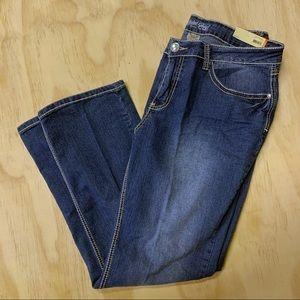 Faded Glory Medium Wash Denim Jeans, Plus